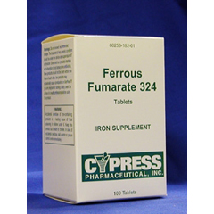 MON18202700 - CypressFerrous Fumarate Supplement 324 mg Tablet 100 per Bottle