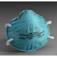 MON18611160 - 3MParticulate Respirator / Surgical Mask Cone Earloops (1860S)
