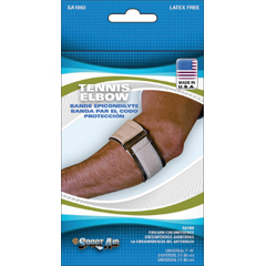 MON19603000 - Scott SpecialtiesTennis Elbow Sleeve Sport-Aid® One Size Fits Most Hook and Loop Closure Tennis