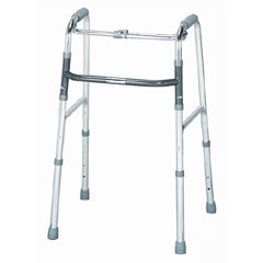 MON19653800 - McKessonFolding Walker Adjustable Height SunMark® Anodized Aluminum, Steel 300 lbs.