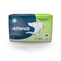 MON20423110 - AttendsIncontinent Brief Attends Tab Closure Medium Disposable Moderate Absorbency