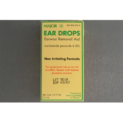 MON22392700 - Major PharmaceuticalsEar Wax Removal Drops Liquid Carbamide Peroxide 6.5%