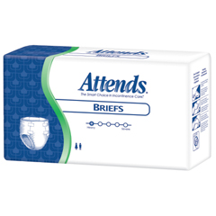 MON25003101 - AttendsIncontinent Brief Attends Tab Closure Regular Disposable Heavy Absorbency