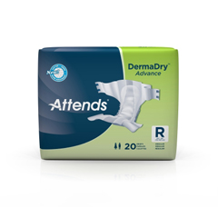 MON25343100 - AttendsIncontinent Brief Attends Tab Closure Regular Disposable Moderate Absorbency