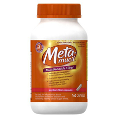 MON26942700 - Procter & GambleFiber Supplement Metamucil Capsule 160 per Bottle 0.52 Gram Strength Potassium / Psyllium Husk