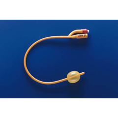 MON30241910 - Teleflex MedicalFoley Catheter Rusch Gold 2-Way Standard Tip 30 cc Balloon 24 Fr. Silicone Coated Latex