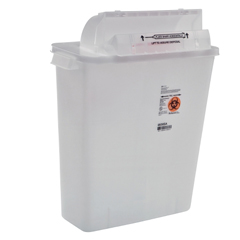 MON33582800 - MedtronicSharpSafety™ Safety In Room Sharps Container Counterbalance Lid, Clear 2 Gallon