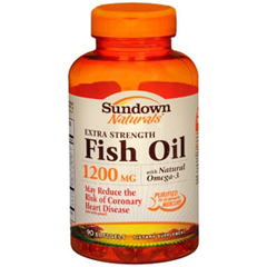 MON34242700 - US NutritionExtra Strength Fish Oil Sundown Naturals® 1200mg Softgel Capsule, 90EA per Bottle