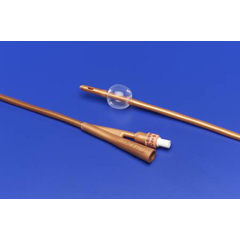 MON37241910 - MedtronicDover Foley Catheter 2-Way Standard Tip 30 cc Balloon 24 Fr. Silicone Coated Latex