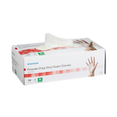 MON41361310 - McKessonExam Glove NonSterile Powder Free Vinyl Smooth Clear Medium Ambidextrous