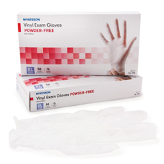 MON41701300 - McKessonExam Glove Confiderm NonSterile Powder Free Vinyl Smooth Clear X-Large Ambidextrous