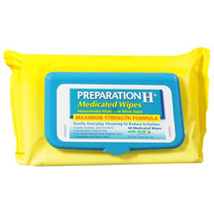 MON41922700 - PfizerHemorrhoid Relief Preparation H® Medicated Wipe 48 per Box, 48EA/BX