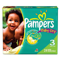 MON45223100 - Procter & GamblePampers® Thin Diapers, Size 6, 35+ lbs., 72/CS