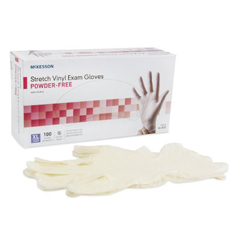 MON48201300 - McKessonExam Glove Medi-Pak® Performance Plus NonSterile Powder Free Stretch Vinyl Smooth Ivory X-Large Ambidextrous, 100EA/BX
