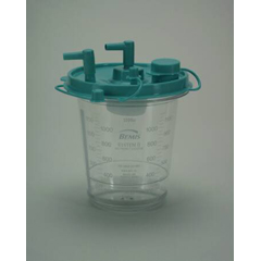 MON48444000 - Bemis Health CareSuction Canister Hi-Flow® 1200 mL Self Sealing Lid, 12EA/PK