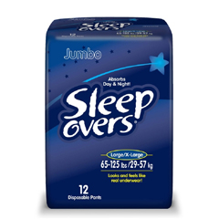 MON53013100 - First QualityProtective Underwear Pull On Sleep Overs® 45-65 lbs. Small / Medium, 15EA/PK 4PK/CS