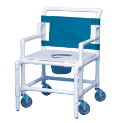 MON55003300 - Innovative ProductsBariatric Shower Commode Chair With Arms PVC 22 Inch