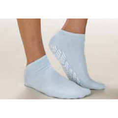 MON60521000 - Alba HealthcareSlipper Socks Care-Steps Adult 2 X-Large Blue Above the Ankle