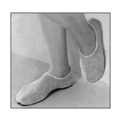 MON74161200 - PBESlippers Pillow Paws Medium Azure Ankle High