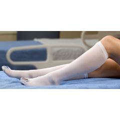 MON77030300 - McKessonAnti-embolism Stockings Medi-Pak Knee-high Large, Regular White Inspection Toe