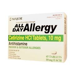 MON86722700 - Major PharmaceuticalsAllergy Relief All Day 10 mg Strength Tablet 45 per Bottle (255549)