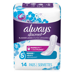 MON87263100 - Procter & GambleIncontinence Liner Always Discreet Maxi Regular Moderate Absorbency DualLock Female