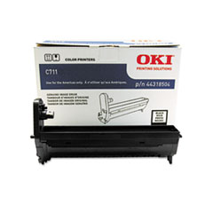 OKI44318504 - Oki 44318504 Drum, 20,000 Page-Yield, Black