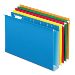 PFX4153X2ASST - Pendaflex® Extra Capacity Reinforced Hanging File Folders with Box Bottom