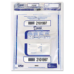 PMC58052 - PM Company® Degradable Triple Protection Tamper-Evident Deposit Bags