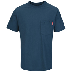 UNFRT30EB-SS-L - Red KapMens Performance Workwear Solid Color T-Shirt