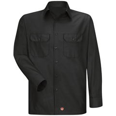 UNFSY50BK-RG-S - Red KapMens Long Sleeve Ripstop Shirt