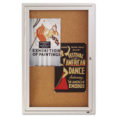QRT2363 - Quartet® Enclosed Indoor Cork Bulletin Board with Hinged Doors