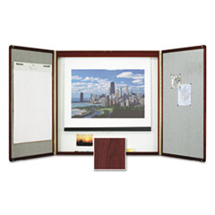 QRT851 - Quartet® Marker Board Cabinet with Projection Screen