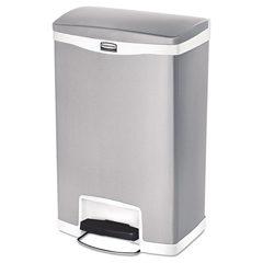 RCP1901997 - Rubbermaid® Commercial Slim Jim® Stainless Steel Step-On Container