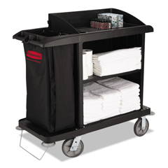 RCP6190BLA - Multi-Shelf Cleaning Cart