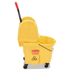RCP757788YW - Rubbermaid® Commercial WaveBrake® Bucket & Wringer Combos