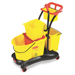 RCP778000YW - Rubbermaid® Commercial WaveBrake® Mopping Trolley Side Press