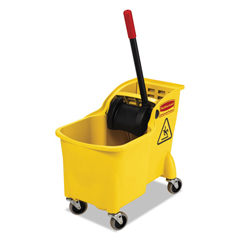 RCPFG738000YEL - Rubbermaid® Commercial Tandem™ 31-Quart Bucket/Wringer Combo