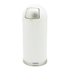 RCPR1536EGLW - Rubbermaid® Commercial Fire-Resistant Steel Dome Waste Receptacle