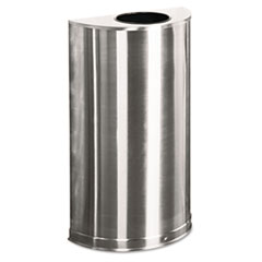 RCPSO12SSS - Rubbermaid® Commercial European & Metallic Series Open Top Half-Round Receptacle