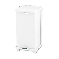 RCPST12EPLWH - Rubbermaid® Commercial Defenders® Heavy-Duty Steel Step Can