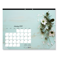 REDC195112 - Blueline® Fashion Monthly Desk Pad Calendar