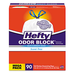 RFPE83690CT - Hefty® Odor Block® Tall-Kitchen Drawstring Bags