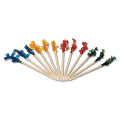RPPR811W - Cellophane-Frill Wood Picks