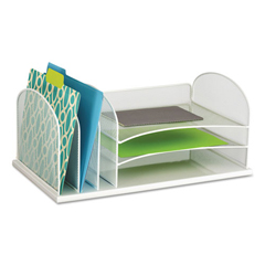 SAF3254WH - Safco® Onyx™ Desk Organizer with Three Horizontal and Three Upright Sections