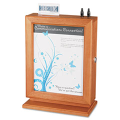 SAF4236CY - Safco® Customizable Wood Suggestion Box