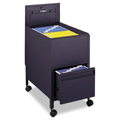 SAF5364BL - Safco® Locking Mobile Tub File with Drawer