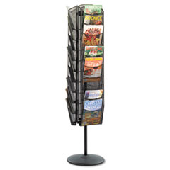 SAF5577BL - Safco® Onyx™ Mesh Rotating Magazine Display