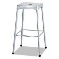 SAF6606SL - Bar-Height Steel Stool, Silver
