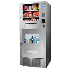 SEASM22-Silver - SeagaUltra Combo Snack/Beverage Snack Mart with Coin Changer and Bill Validator